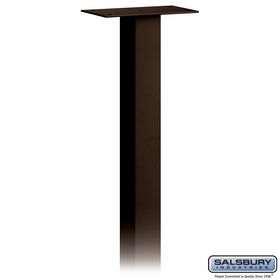 Salsbury 4895BRZ Standard Mailbox Post In Ground Mounted Bronze Finish
