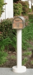 Standard Mailbox Post & Westchester Brass Mailbox with Locking Insert Option