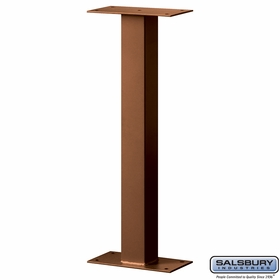 Salsbury 4365D-COP Standard Pedestal Bolt Mounted For Designer Roadside Mailbox Copper Finish