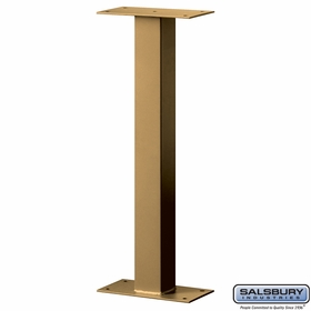 Salsbury 4365D-BRS Standard Pedestal Bolt Mounted For Designer Roadside Mailbox Brass Finish