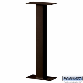 Salsbury 4365D-BRZ Standard Pedestal Bolt Mounted For Designer Roadside Mailbox Bronze Finish