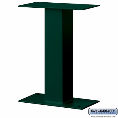 Salsbury 4395GRN Standard Pedestal - Bolt Mounted - for Mail Package Drop - Green
