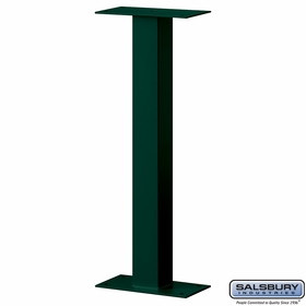Salsbury 4365GRN Standard Pedestal Bolt Mounted For Roadside Mailbox Green