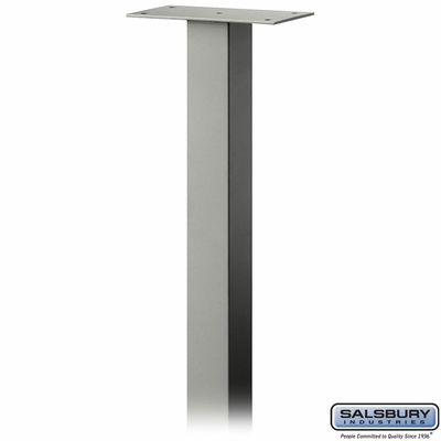 Salsbury 4385D-NIC Standard Pedestal In Ground Mounted For Designer Roadside Mailbox Nickel Finish