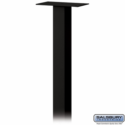 Salsbury 4385BL Standard Pedestal In Ground Mounted For Mail Package Drop Black