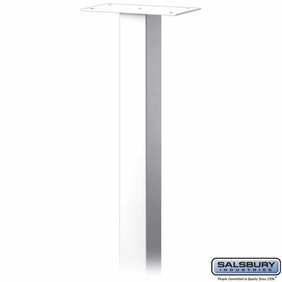 Salsbury 4385W Standard Pedestal In Ground Mounted For Mail Chest White
