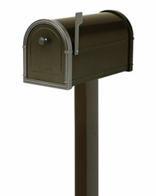 Single Post Mount System Standard In-Ground (Mailbox purchased separately)