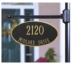 Whitehall Hanging Address Plaques