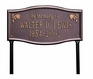 "Whitehall Standard Size Alexandria ""In Memory of"" Wall or Lawn Plaque - (2 Lines)"
