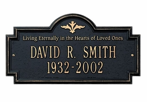 "Standard Size Arlington ""In Memory of"" Wall or Lawn Plaque - (2 Lines)"