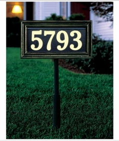Whitehall Standard Size Classic Rectangle Illuminator Wall or Lawn Traffic Sign - (1 Line)