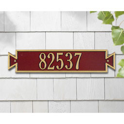 Standard Size Exeter Horizontal Wall Plaque - (1 Line)