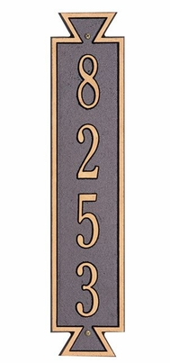 Whitehall Standard Size Exeter Vertical Wall Plaque - (1 Line)