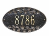 Standard Size Ivy Oval Wall Plaque - (1 Line)