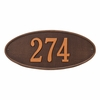 Standard Size Madison OVAL Wall or Lawn Plaque - (1 or 2 Lines)