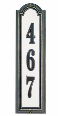 Standard Size Manchester Vertical Reflective Wall Traffic Sign - (1 Line)