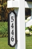 Whitehall Standard Size Nite Bright Richfield Home Address Multiple-Mount Plaque