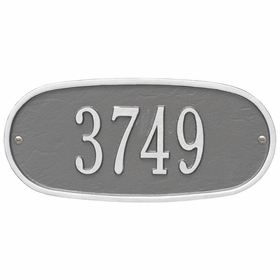 Standard Size OVAL Wall Plaque - (1 Line)
