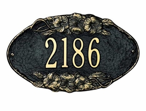 Standard Size Pansy OVAL Wall Plaque - (1 Line)