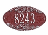 Whitehall Standard Size Rose OVAL Wall Plaque - (1 Line)