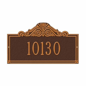 Standard  Size Villa Nova Wall or Lawn Plaque  - (1 or 2 lines)