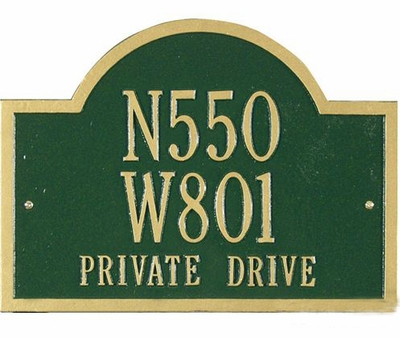 Whitehall Standard Size Wisconsin Special Wall or Lawn Plaque - (2 or 3 Lines ONLY)