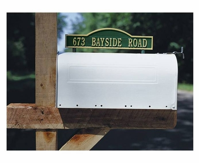 Whitehall Standard Two-Sided Arch Mailbox Address Marker - (1 Line)