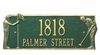 Whitehall Standard Wall Golf Greens Wall Plaque - (1 or 2 lines)