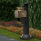 Statesville Mailbox Package with Black Post