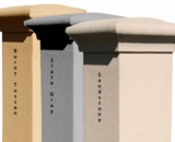 Stucco Column (Only) for Manchester Non-Locking Column Mount Mailbox - Chooose Color (Mailbox and Address Plaque Sold Separately)