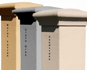 Stucco Column (Only) for Manchester Column Mailbox - Chooose Color (Mailbox and Plaque Sold Separately)
