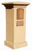 Stucco Column (Only) for Column Mailbox in Burnt Tuscan (Mailbox and Address Plaque sold separately)
