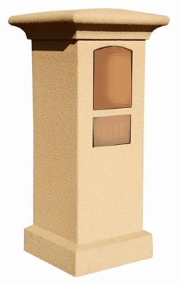 Stucco Column (Only) for Manchester Column Mailbox - Burnt Tuscan (Mailbox and Address Plaque Sold Separately)