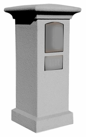 Stucco Column (Only) for Manchester Column Mailbox - Slate Grey (Mailbox and Address Plaque Sold Separately)