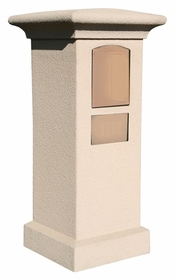 Stucco Column (Only) for Manchester Column Mount Mailbox - Sandstone (Mailbox and Address Plaque Sold Separately)