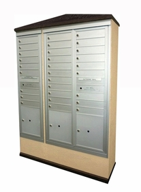 Suburban Centralized Delivery System for 1 Single and 1 Double Column Mailbox Cabinet (Sold Separately)