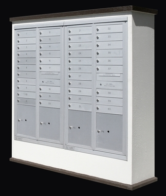 Suburban Centralized Delivery System for 2 Double Column Mailboxes (Mailboxes Sold Separately)