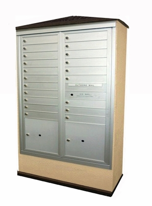 Suburban Centralized Delivery System for Double Column Mailbox Cabinet (Sold Separately)