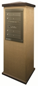 Suburban Centralized Delivery System for Single Column Mailbox Cabinet (Sold Separately)