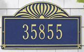 Whitehall Sunburst - One Line Estate Lawn Address Sign