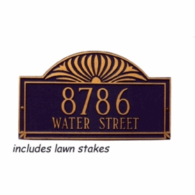 Whitehall Sunburst - Two Line Estate Lawn Address Sign