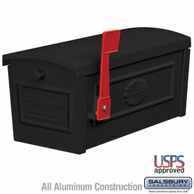 Salsbury 4550BLK Townhouse Mailbox Post Style Black