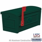 Salsbury 4550GRN Townhouse Mailbox Post Style Green