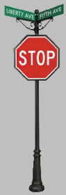 TownSquare Series #4 Directional Stop Sign