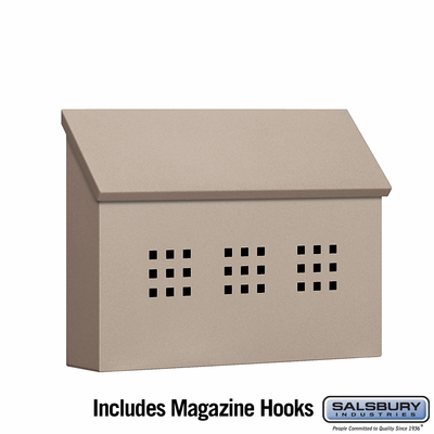 Salsbury 4615BGE Traditional Mailbox Decorative Horizontal Style Beige