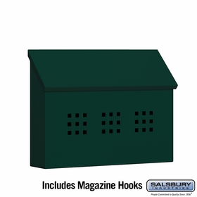 Salsbury 4615GRN Traditional Mailbox Decorative Horizontal Style Green