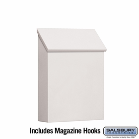 Salsbury 4620WHT Traditional Mailbox Standard Vertical Style White