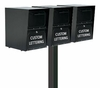 Triple Locking Curbside Standard Surface Mount Post System (Mailboxes purchased separately)