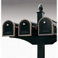 Decorative Mailbox Post Side Support Bracket for Two Mailboxes
