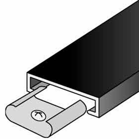 Salsbury 2213 Trim Kit For Up To 3 Columns Of Aluminum Mailboxes Black